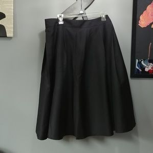 Black Swing Skirt with Pockets